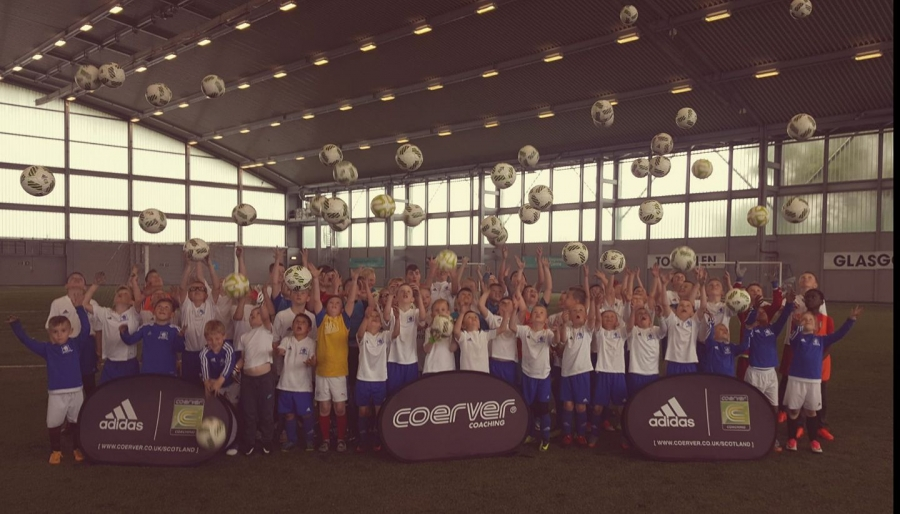 Fantastic Partner Club Camp today with 73 players from Sons of Struth Academy at Toryglen football centre