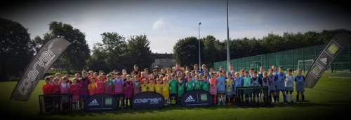 100+ players age 4-15 from 24 grassroots & pro clubs attending camp in Edinburgh this week.